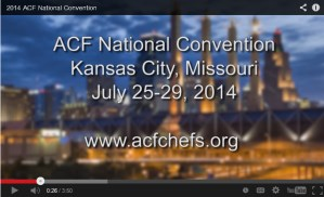 ACF Chef's 2014 National Convention is Almost Here!