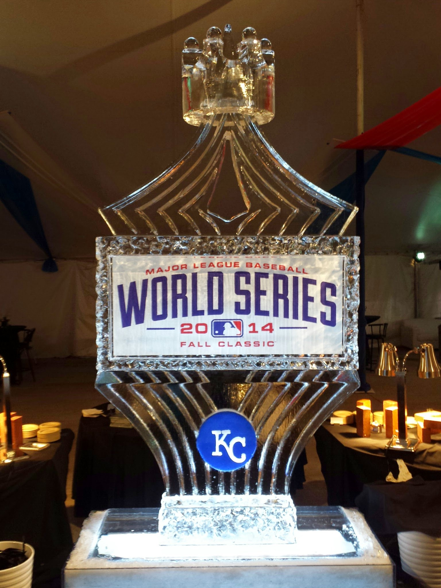 Ice Carvings for the Royals AL Playoffs and 2014 World Series!