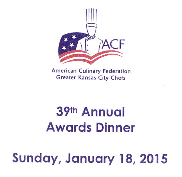 Winners of the 39th Annual ACF Kansas City Chefs Association Dinner and Awards