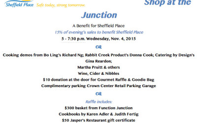 Shop at the Junction to Benefit Sheffield Place