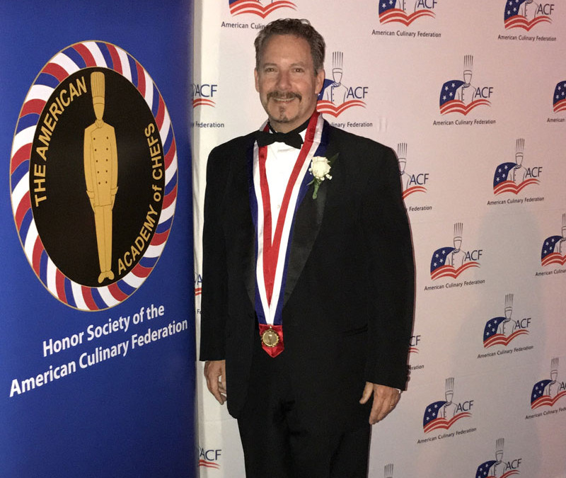 Executive Chef  and ACF Greater Kansas City Chef's Association President Jim Tinkham is Inducted into the American Academy of Chefs