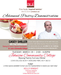 Advanced Pastry Demonstration @ Johnson County Community College