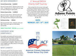 1st Annual GKCCA Charity Golf Tourney @ Adams Pointe Golf Club of Blue Springs